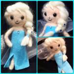 Needle Felted Elsa Poseable Doll!