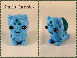 Needle Felted Chibi Bulbasaur! by StarlitCutesies