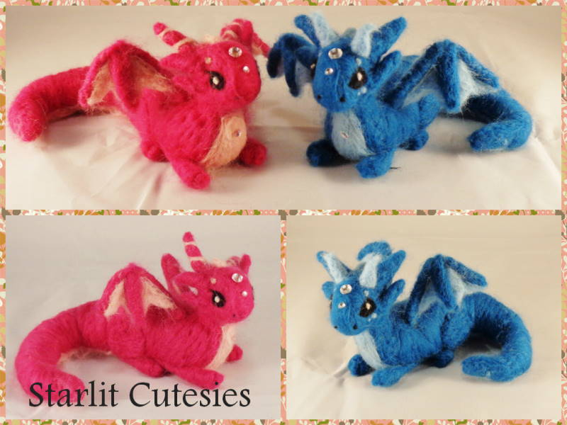 Needle Felted Gem Dragons! by Charlottejks