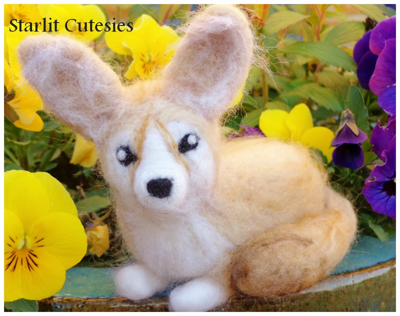 Needle Felted Fennec Fox! For Sale by StarlitCutesies