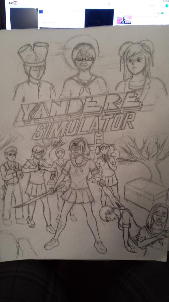 Hotline Yandere concept outline sketch by RomadE