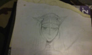 Cat Girl Drawing.(Not that great) by JackWasup
