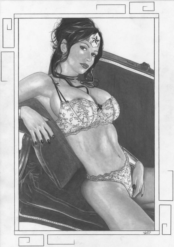 Wonder Woman - sofa by TimGrayson
