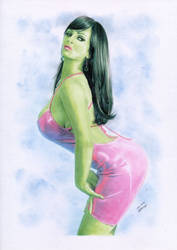 She-Hulk Denise Milani by TimGrayson