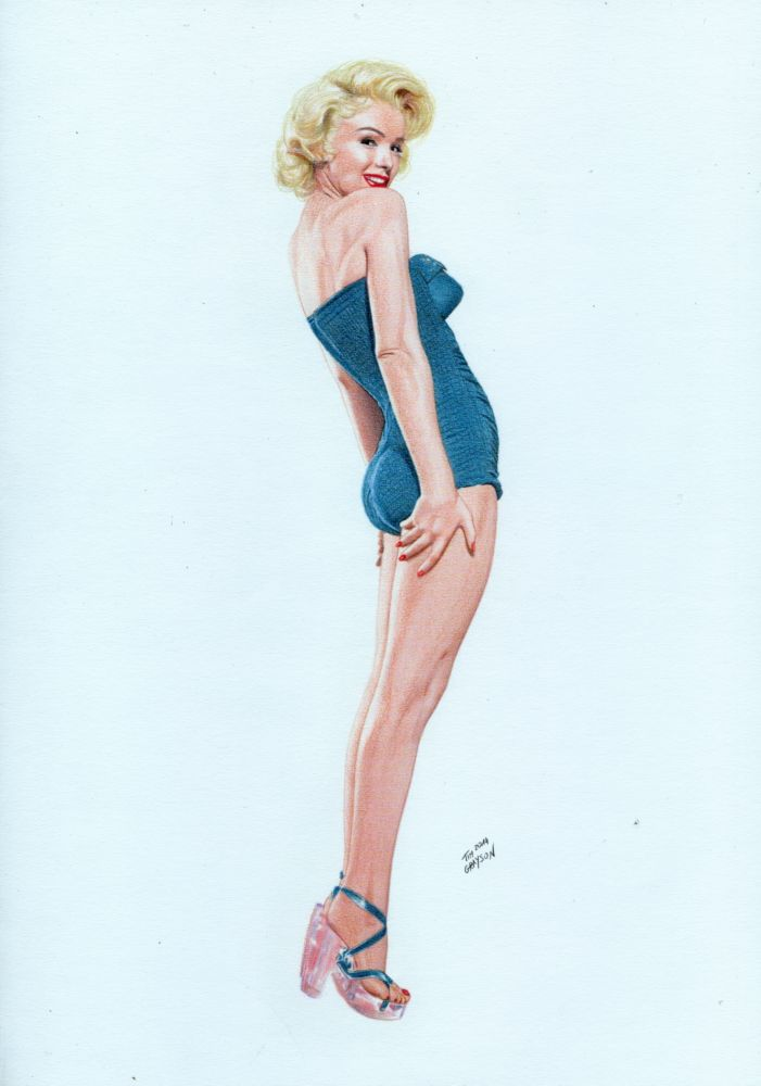Marilyn Monroe Pin-Up by TimGrayson