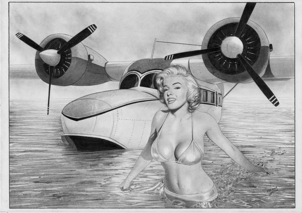 Marylin Monroe Airplane by TimGrayson
