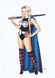 VALKYRIE Thor Ragnarok Warrior by TimGrayson