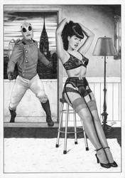 The Rocketeer and Betty Page by TimGrayson