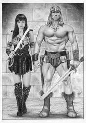 Conan and Xena by TimGrayson