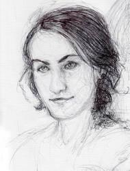 Self portrait- biro