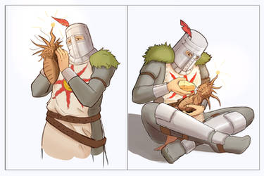 Solaire in love ( with Sunlight Maggot )