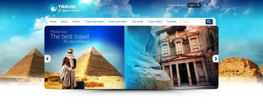 Travel Website Header by blacktwo