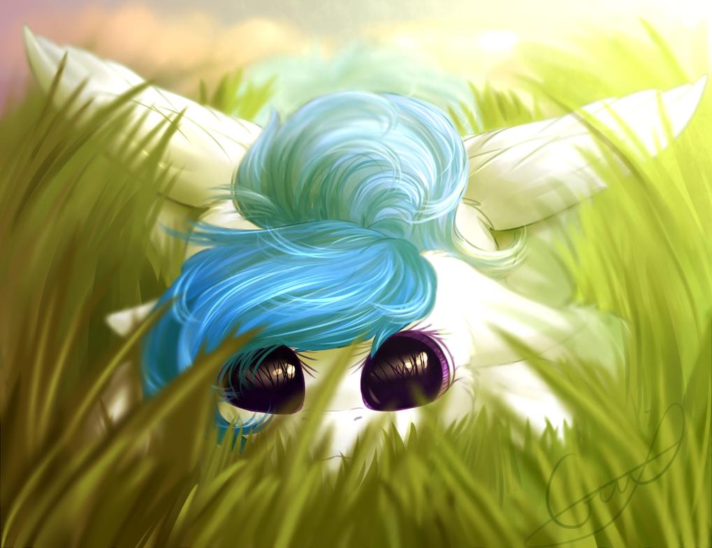 Hide! (YCH from VK) by PeachMayFlower