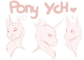 Cheap Pony Headshot YCH-CLOSED by Sakura-Witch