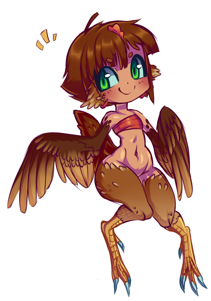 Haruhi the Chicken Harpy by Kronilix