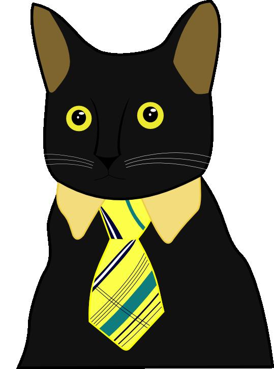 Business Cat Vector