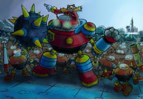 Eggman's night invasion by Escopeto
