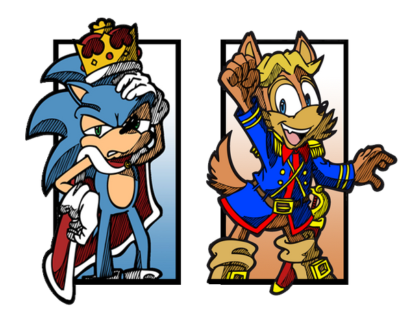 Sonic and Antoine by Escopeto