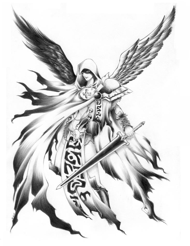 Guardian Angel Tattoo Sketches Guardian_Angel by Aril...