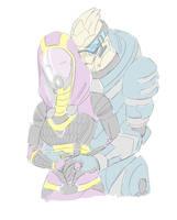 Garrus: Tali Needs A Hug by Arilynazure