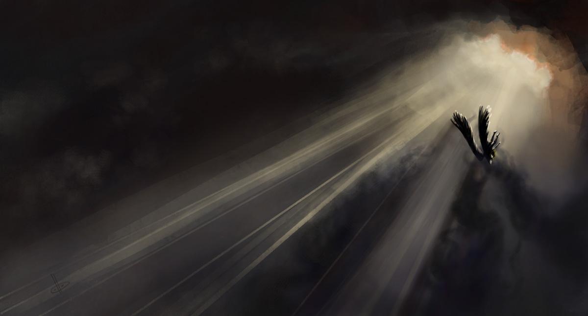 Descending angel 1 by deerbard