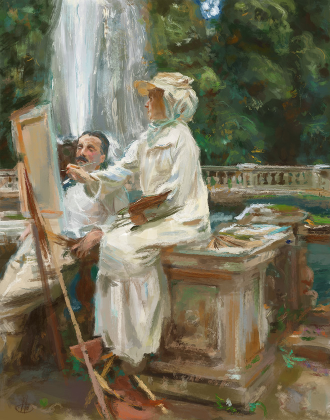 John Singer Sargent masterstudy by deerbard