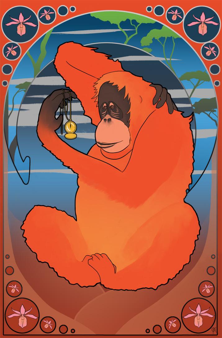 About time - Orangutan by deerbard