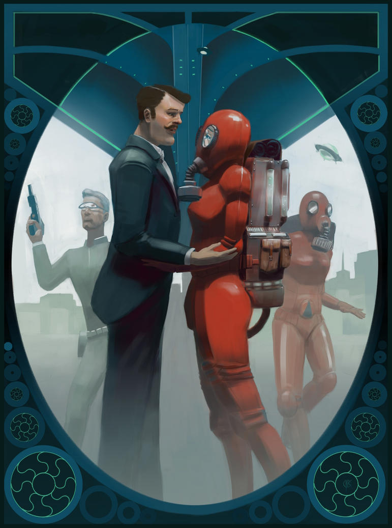 Oldschool sci-fi poster aka The New Breed by deerbard