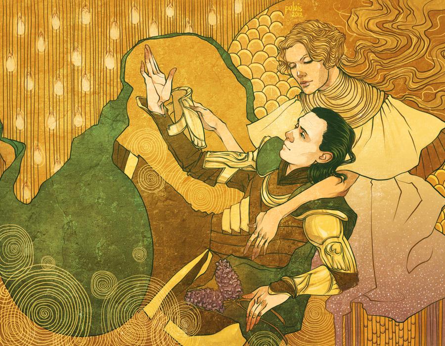 Loki and Frigga by Pulvis
