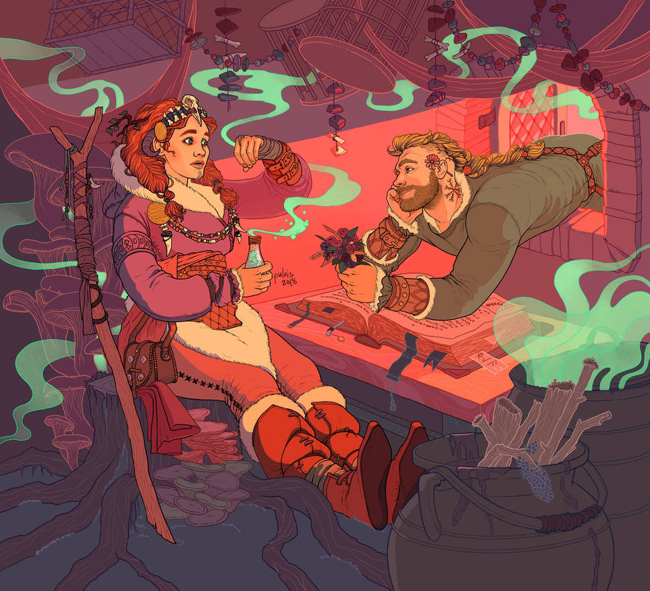 Young Witch Romance by Pulvis