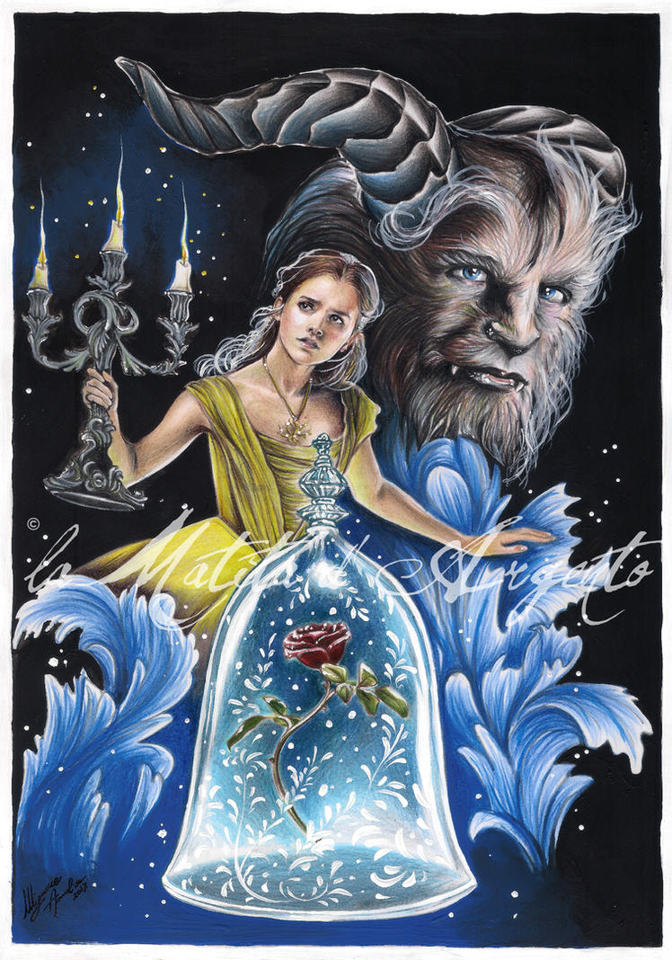 Beauty and the beast 2017 by lamatitadargento on deviantart for Disegni bella e la bestia