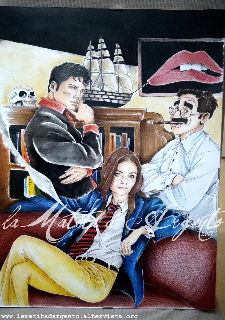 A casa di Dylan Dog e Groucho by laMatitadArgento