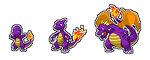 Charmander Line with Spyro Colors by Pikaweed