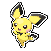 Pichu Pixel Over by Pikaweed