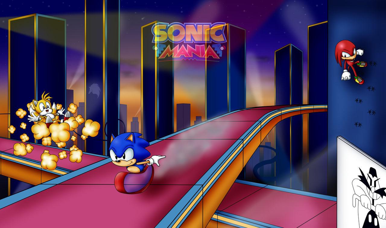 Sonic Mania Studiopolis Zone act 1 by TheWhiteWOLFarg on