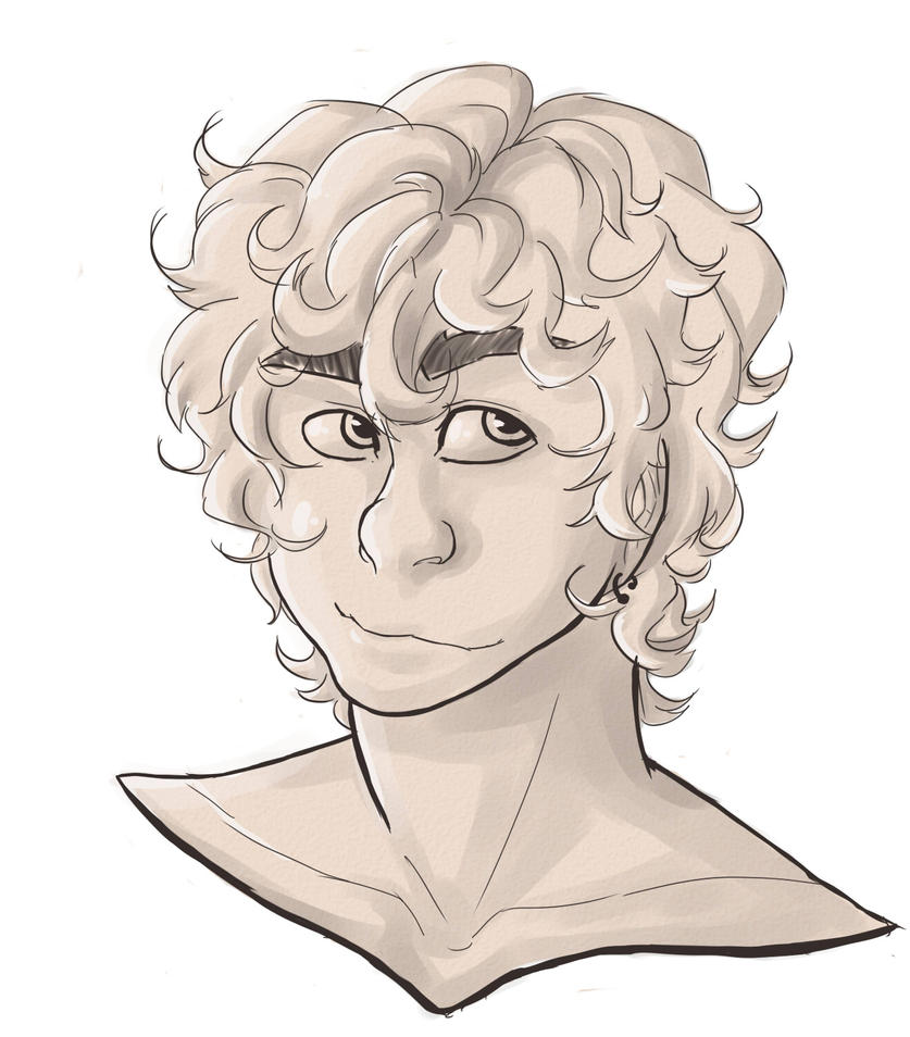how to draw curly hair deviantart