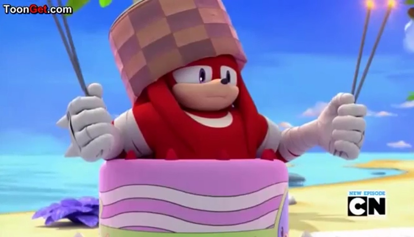 Knuckles the echidna sonic boom