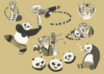 Po and Tigress sketch