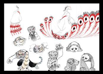 Kung fu Panda sketches by kyomitsu
