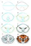 How I draw Tigress-Face