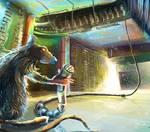 rat in space