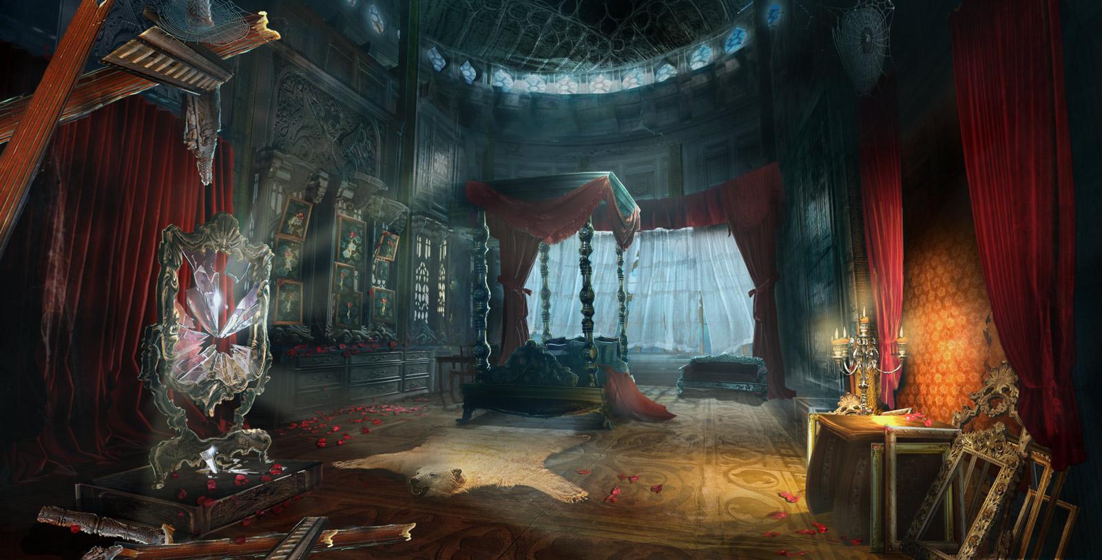 Beast bedroom by WolfeWOLF