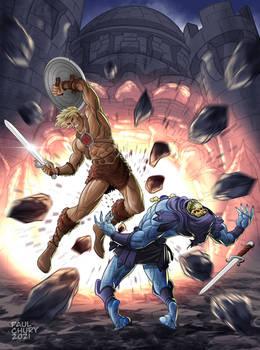 He-Man against Skeletor