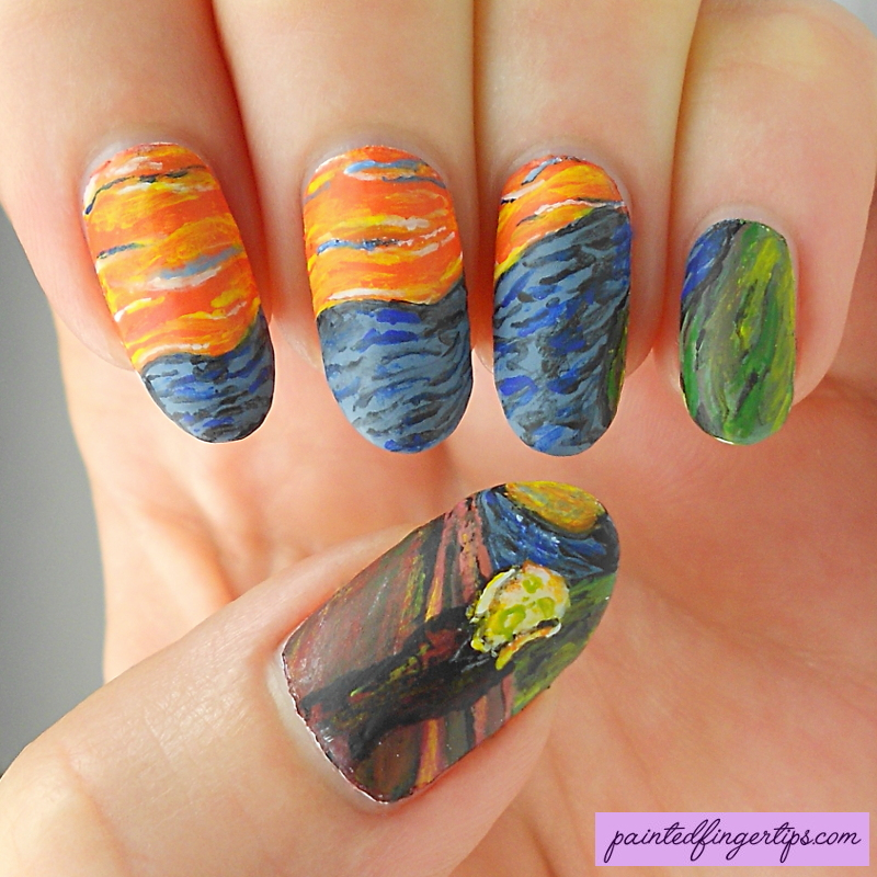 Munch The Scream Nail Art By Painted Fingertips On Deviantart