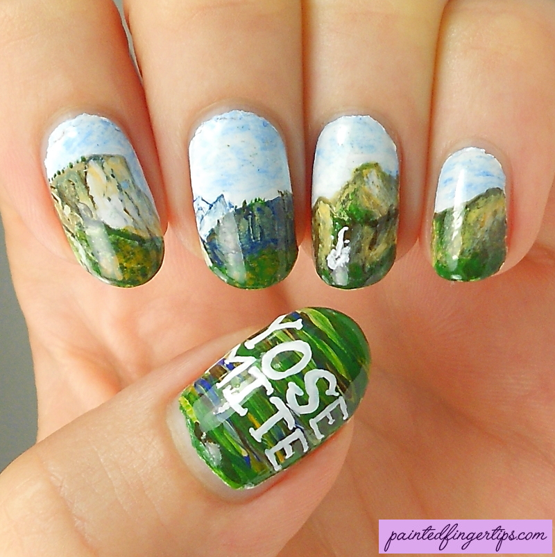 Yosemite-nail-art by Painted-Fingertips