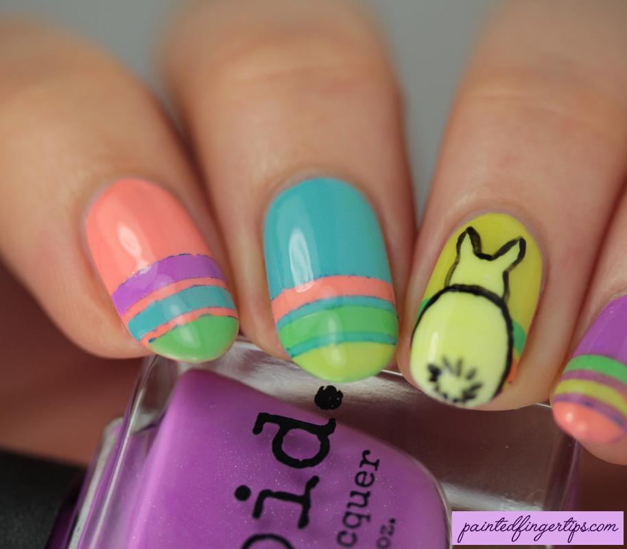 Bunny Rabbit Nail Art By Painted Fingertips On Deviantart