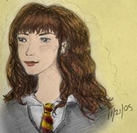 Hermione in Pencil -- color