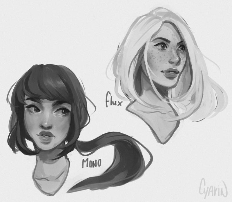 Study Portraits - Flux + Mono by Cyarin