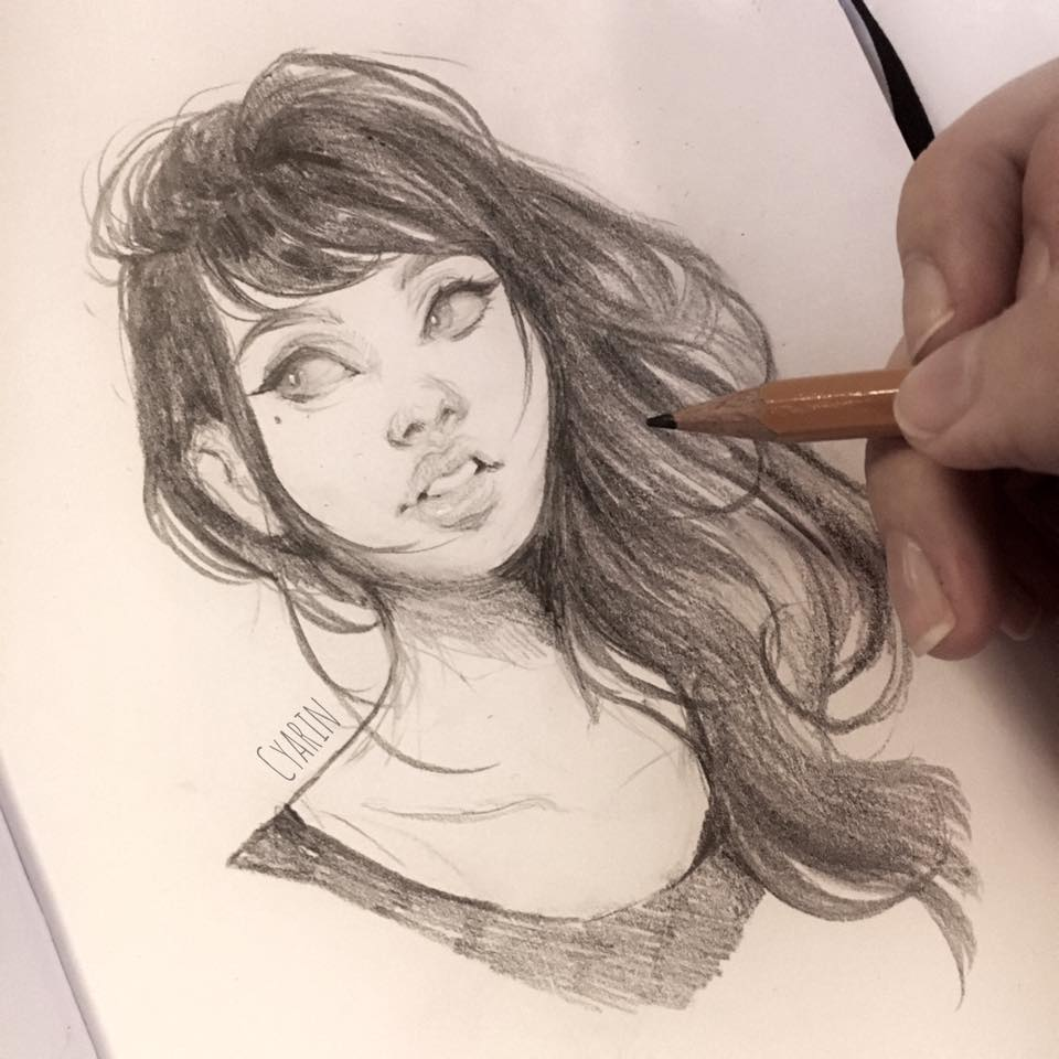 Pencil Sketch by Cyarin