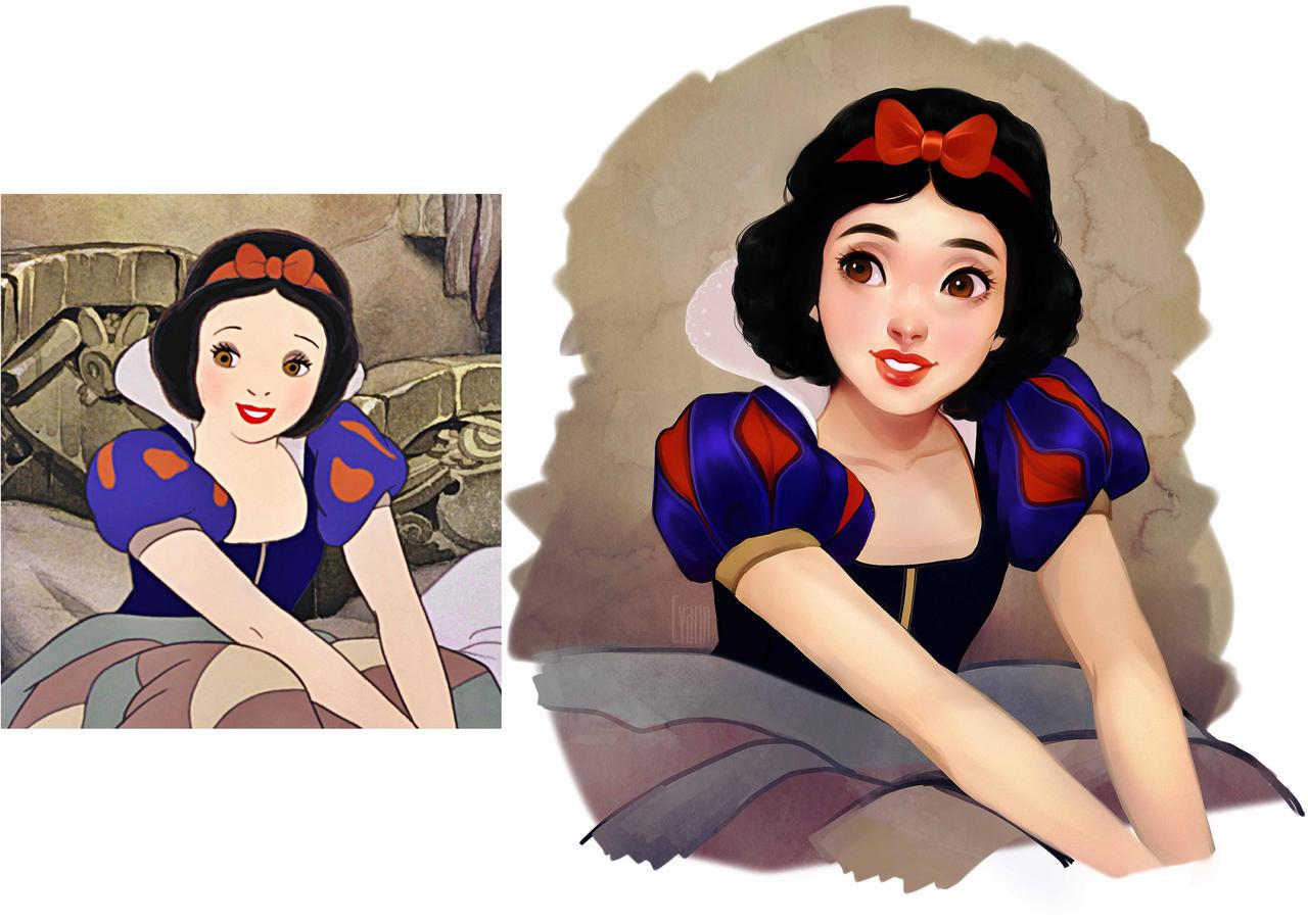 Screencap Repaint - Snow White by Cyarin